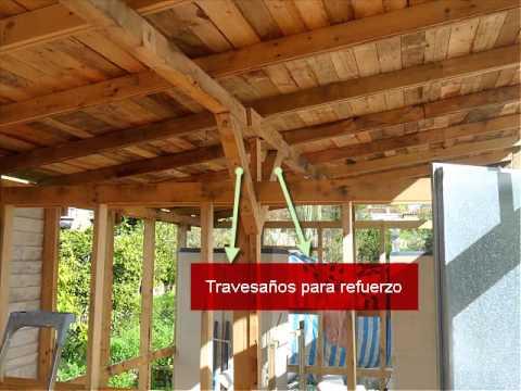 Como construir una habitaci n con palets v deo final for Ideas para hacer un techo en el patio