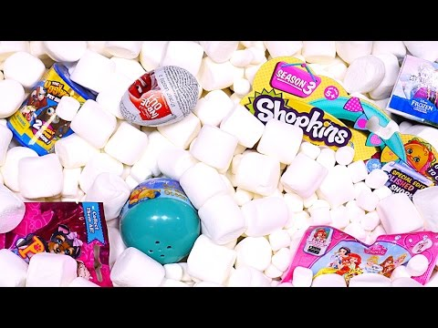 Thumbnail: Marshmallow Madness Surprise Eggs Aquarium! Inside Out Ugglys Disney Princess Toy Eggs DCTC
