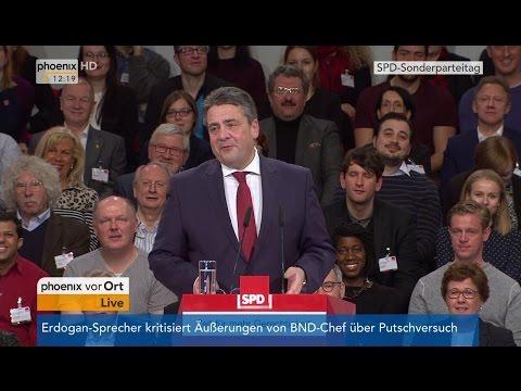 Sonderparteitag der SPD: Rede von Sigmar Gabriel am 19.03.2017