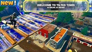 Tilted Town Building Glitch | Fortnite temporada X