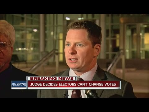 Federal judge blocks motion by Colorado electors to upend state rules in hopes of not electing Trump