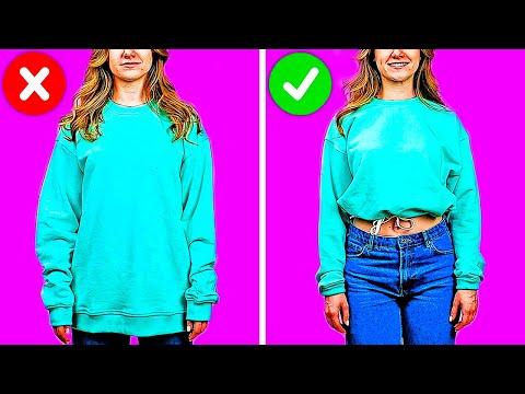 23 FASHION TIPS AND CLOTHES DIY HACKS