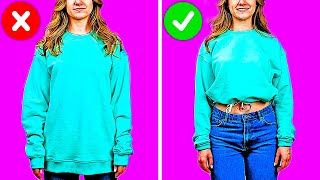 23 FASHION TIPS AND CLOTHES DIY HACKS