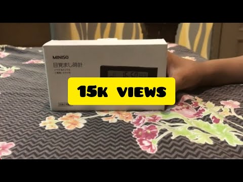 Miniso Alarm Clock Review۰ Jurrassic Man 🦖Review Time