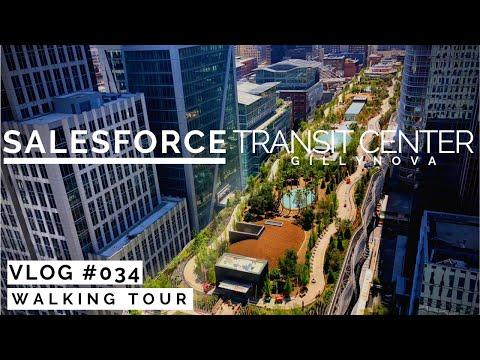 Salesforce Transit Center Park Walkthrough - July 2019 [4K]