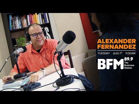 BFM 89.9  Interview with Alexander Fernandez