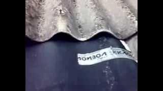 видео ремонт шиферной крыши