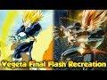 Recreated Vegeta's Final Flash vs Cell! DBZ Anime Recreation! - Dragon Ball Xenoverse 2
