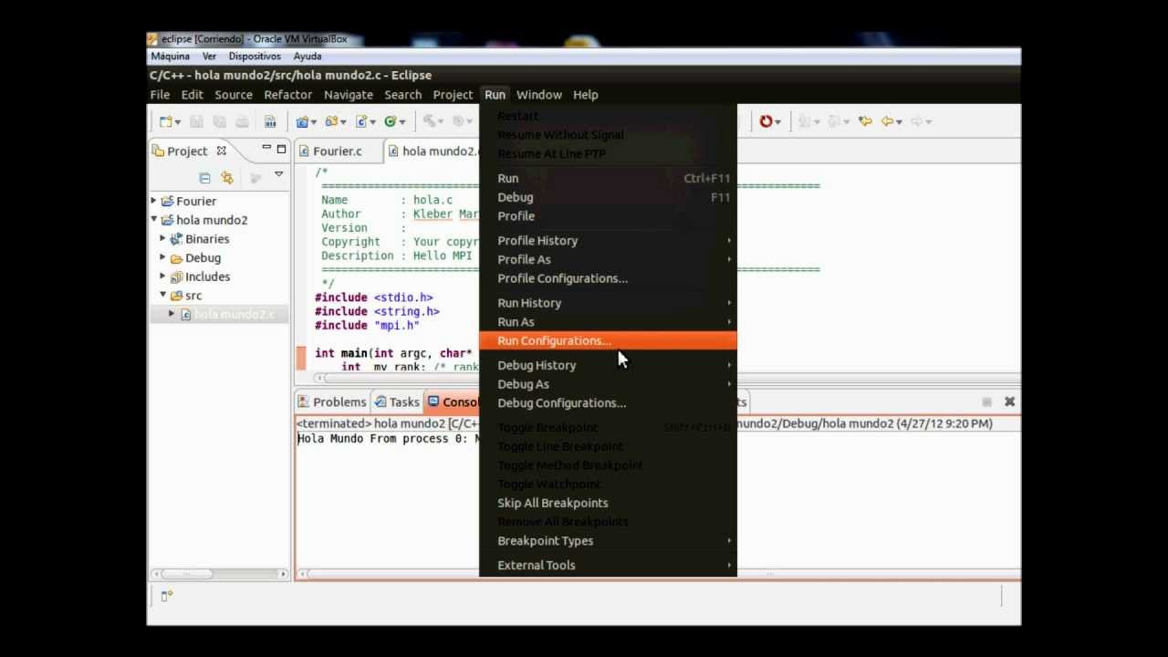 Programación OpenMPI con Eclipse PTP en C