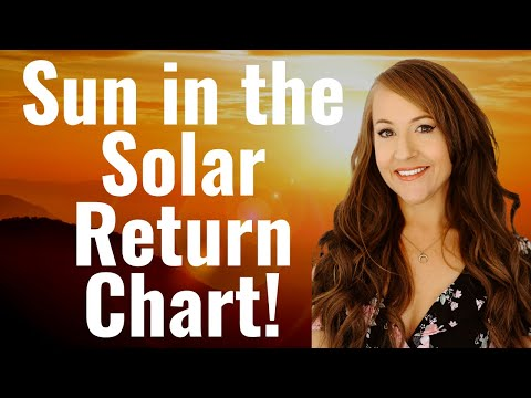Your SOLAR RETURN SUN Shows the MOST IMPORTANT Influence for