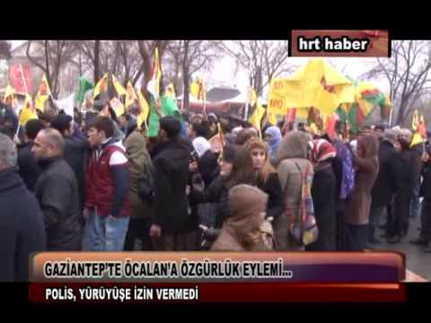 GAZİANTEP'TE ÖCALAN'A ÖZGÜRLÜK EYLEMİ…
