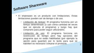 Software Shareware y Freeware