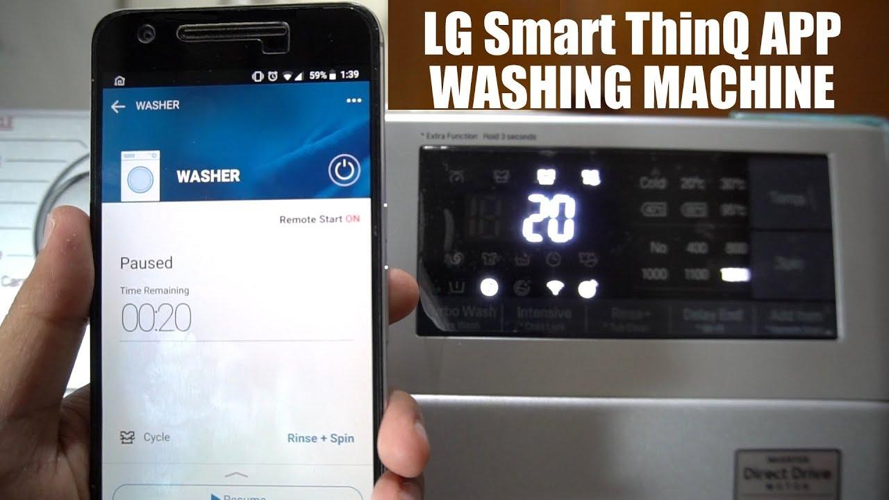 LG Smart ThinQ App Setup & Demo - Front Load Washing Machine