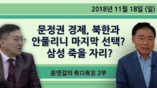 문정권 경제, 북한과 안풀리니 마지막 선택? 삼성 죽을 자리? [윤영걸의 有口有言] 2부 (2018.11.18)