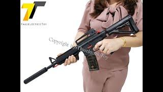 [450 บาท] ปืนยิงลูกกระสุนเจล M4a1 ยาว 71 เซนติเมตร แถมกระสุนเจลขนาด 7-8 mm 750 นัด