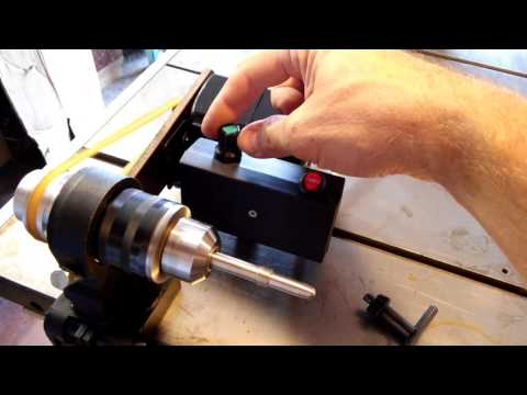 Handmade lathe for installation cue tips and ferrule