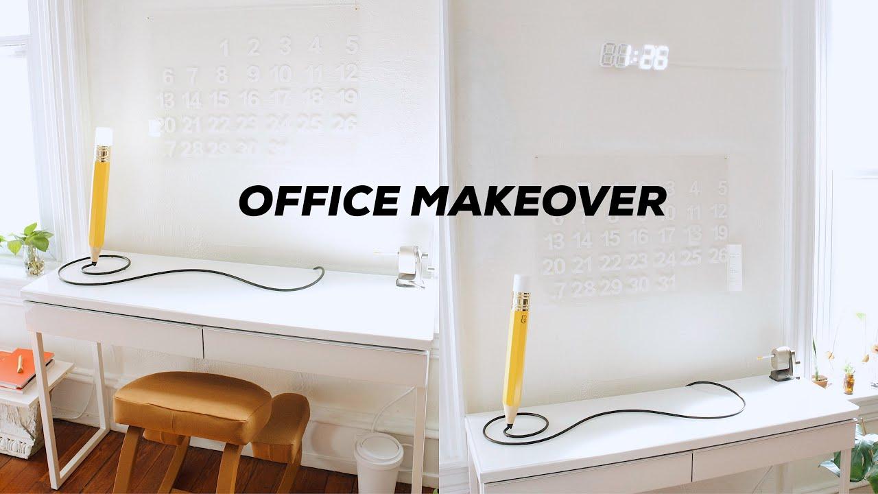 DIY HOME OFFICE MAKEOVER // Minimalist Office Decor + Affordable Hacks