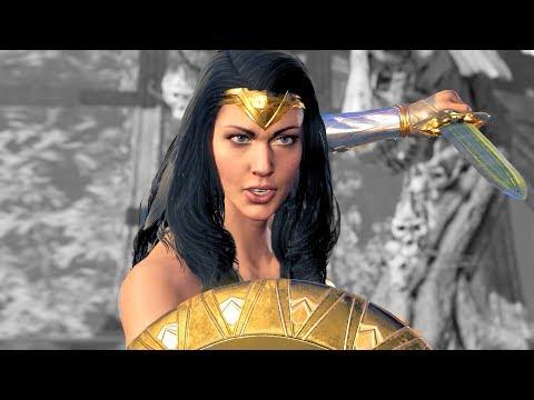 Injustice 2 Wonder Woman Movie Costume Intro, Victory, Super Move & Boss Battle (Amazon Warrior)