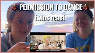 TWINS REACT   BTS (방탄소년단) 'Permission to Dance' Official MV