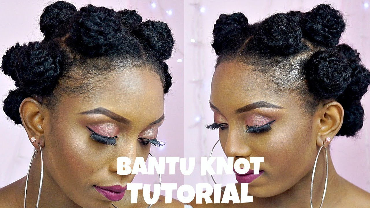 How To Bantu Knot Tutorial With Extensions On Short