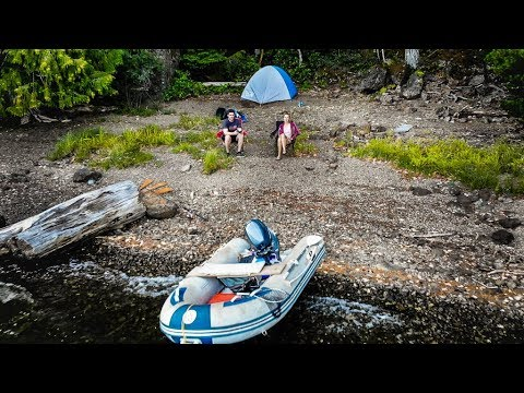 BOAT/TENT CAMPING In The Great OUTDOORS!!
