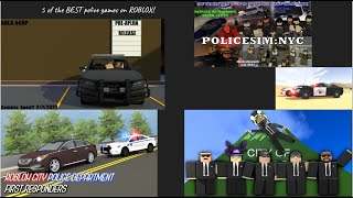 5 of the BEST police games on ROBLOX!   Ep. 114