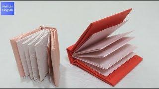迷你書本摺紙教學(5頁) - 如何自己製作一本迷你筆記本 手工折紙DIY