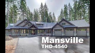 Tour of Luxury One-Story Craftsman House Plan | THD-4540