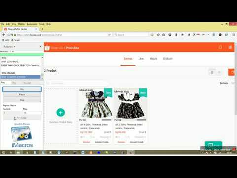 Free Auto Upload Product Shopee iMacros Script