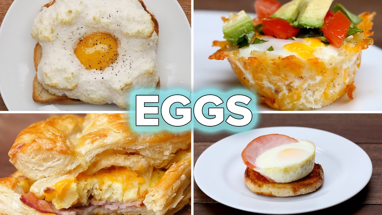 5 Egg Recipes For Breakfast Lovers Tasty Youtube