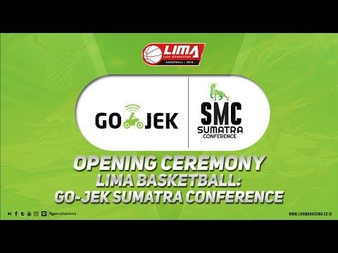OPENING CEREMONY LIMA BASKETBALL GO-JEK SUMATRA CONFERENCE
