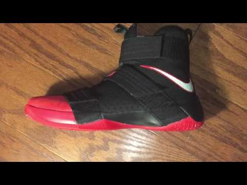 Lebron Soldier 10 RED TOE!  Suede on the toe box!!  Reflective SWOOSH