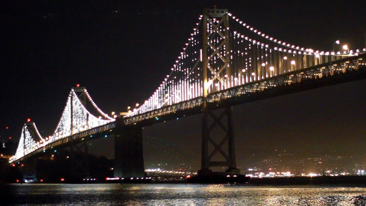 Bay Bridge LED Lights Project - YouTube