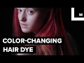 Hair dye changes color with temperature