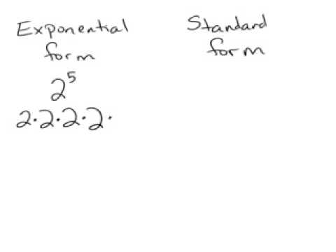 Exponential And Standard Form Youtube