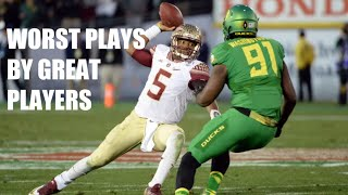 College Football Worst Plays By Great Players