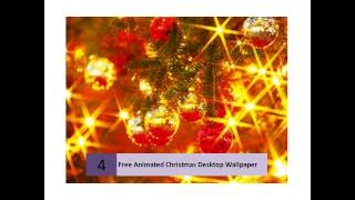 Beautifully Decorated Free Animated Christmas Desktop Wallpapers