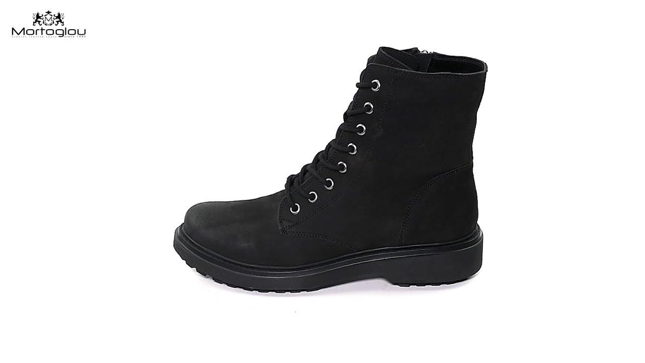 9239b285296 Γυναικεία Μποτάκια Geox D847AH Black Oily Leather - YouTube
