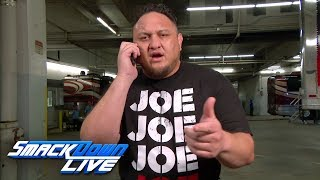 Samoa Joe is going to pay a visit to the Styles home: SmackDown LIVE, Aug. 28, 2018