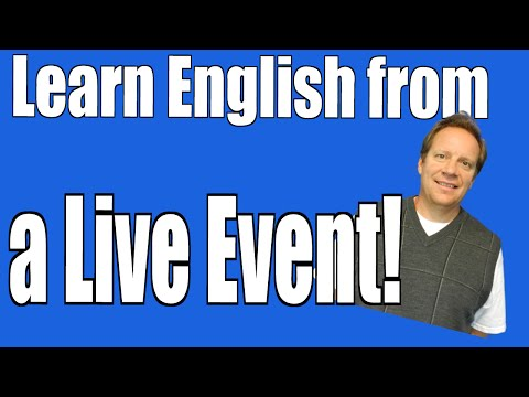 Learn English with this Live Event about Fun Things from the Week!