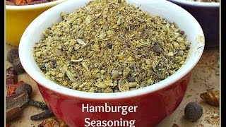 How To Make Hamburger Seasoning - For Homemade Burgers And Sausages