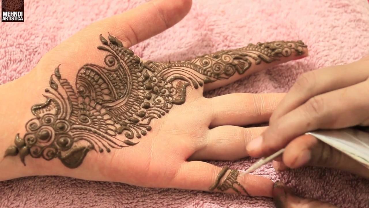 Mehndi Designs Tutorial Youtube : Stunning hand mehndi designs tutorial step by youtube