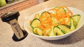 How To Make Ruffled Cucumber & Carrot Salad With White Vinegar: Cooking With Kimberly