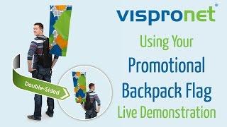 Walking Tradeshow Advertising - Promotional Backpack Flag Setup