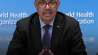 Dr Tedros talks about the sacrifices of health workers during the COVID-19 pandemic