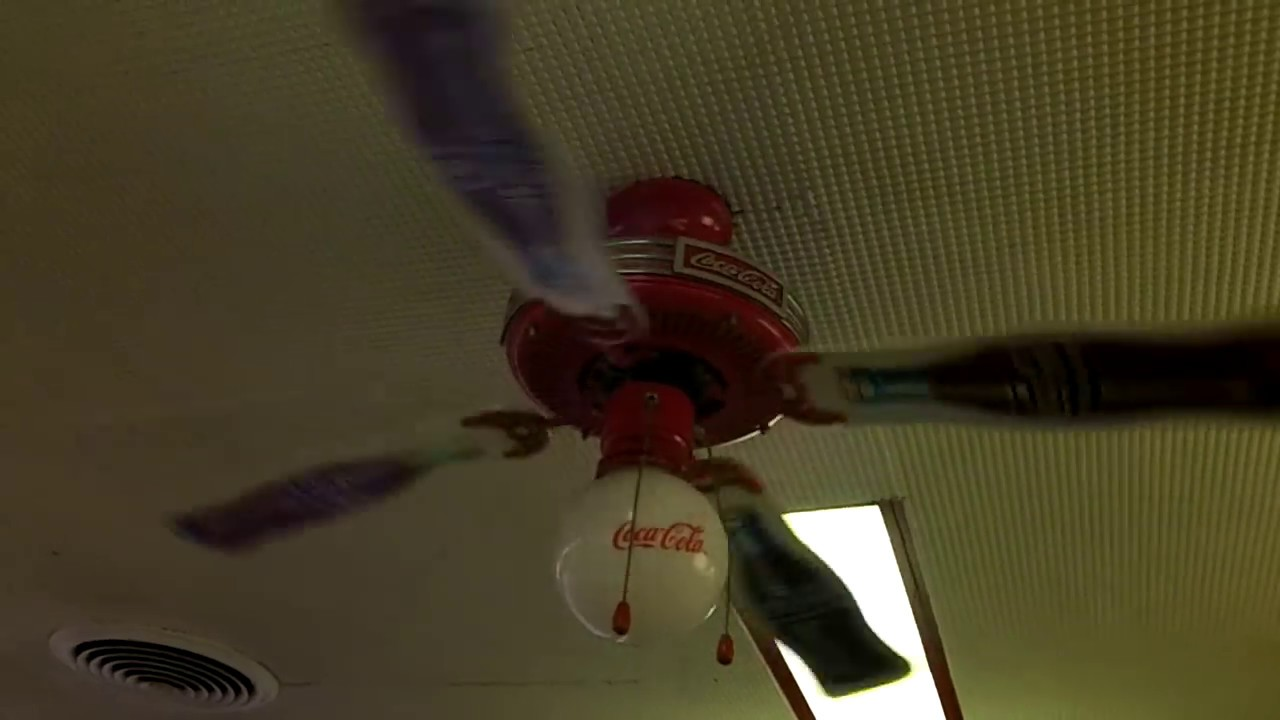 """48"""" Coca-Cola Ceiling Fan (1 of 4) - YouTube"""
