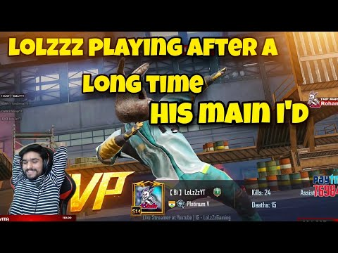 LoLzZz GAMING PLAYING AFTER A LONG TIME HIS MAIN ID | LoLzZz Gaming |  Bi Official