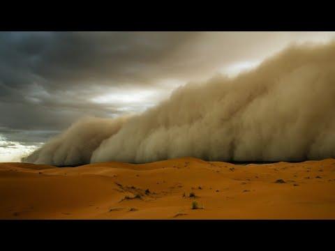 Sand Storm In Sahara Desert