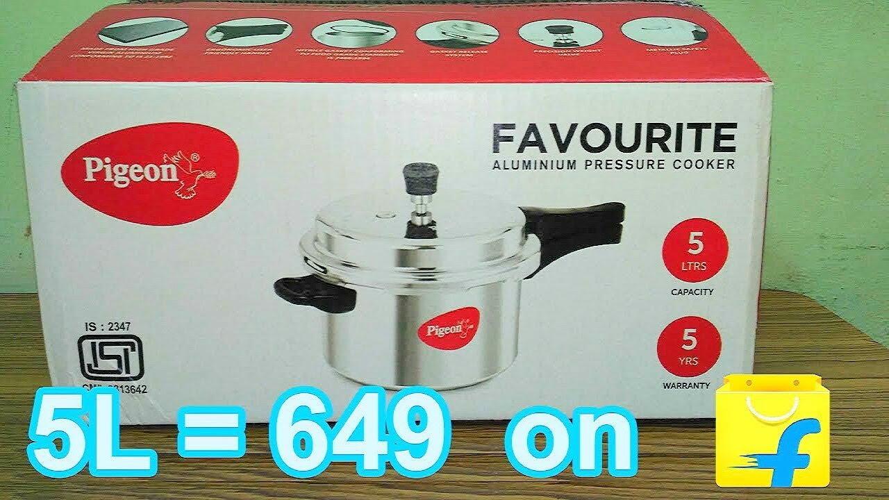eb75a580c Pigeon Favourite 5 L Pressure Cooker (Aluminium) Unboxing - YouTube