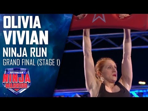 Olivia Vivian's shock Stage 1 splash out   Australian Ninja Warrior 2019